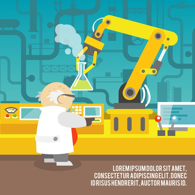 Background of robotic arm Free Vector