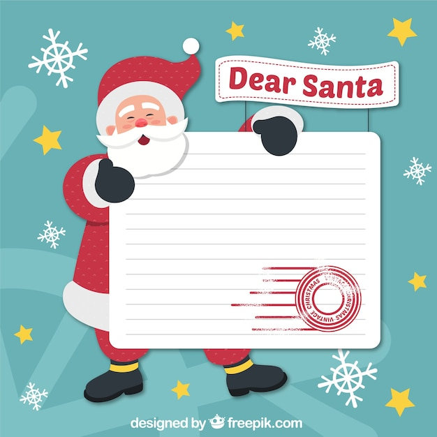 Background of santa claus with letter