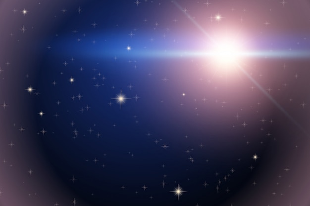 Фон из космоса с яркой звездой Premium векторы