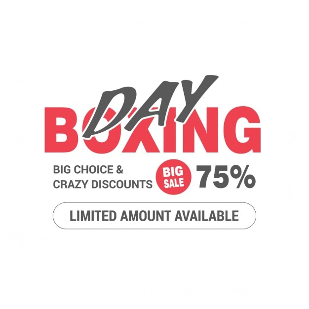 Background of special offers boxing day