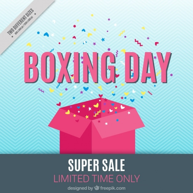 Background of super sales boxing day