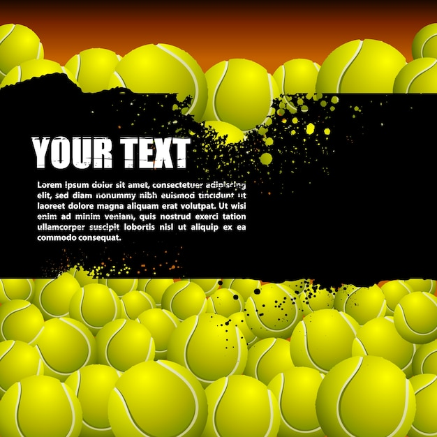 Background of tennis balls