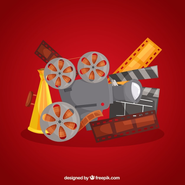 Background of typical film elements 無料ベクター