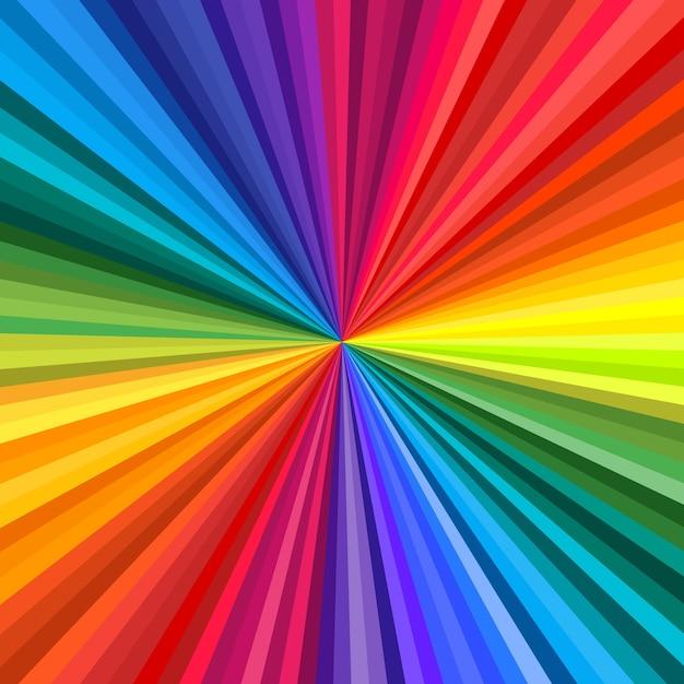 Фон яркой радужной завихрения, закручивающейся к центру. иллюстрация Premium векторы