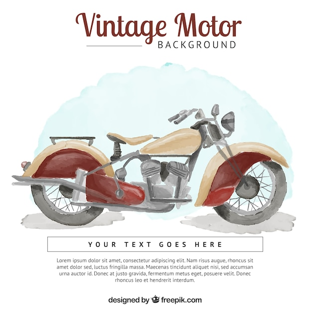 motorcycle background o  background of watercolor vintage motorcycle Vector | Free Download