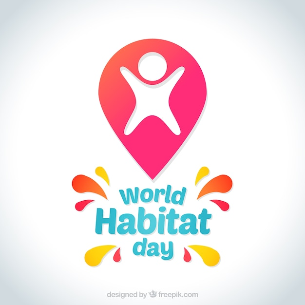 Background of world habitat day with abstract shapes