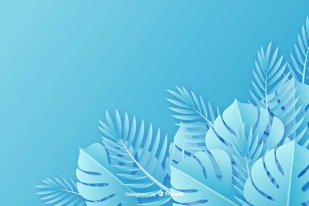 Background paper style monochrome leaves Free Vector