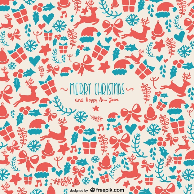 Background pattern for Christmas Vector | Free Download