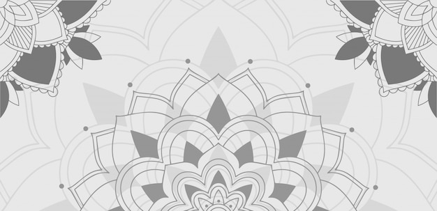 Background pattern of mandala in gray Free Vector