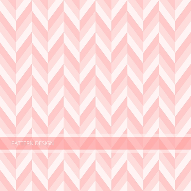 Background pattern seamless modern abstract sweet pink chevron vector design. Premium Vector