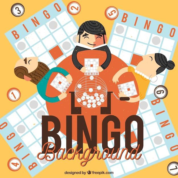Sfondo delle persone che giocano a bingo Vettore gratuito
