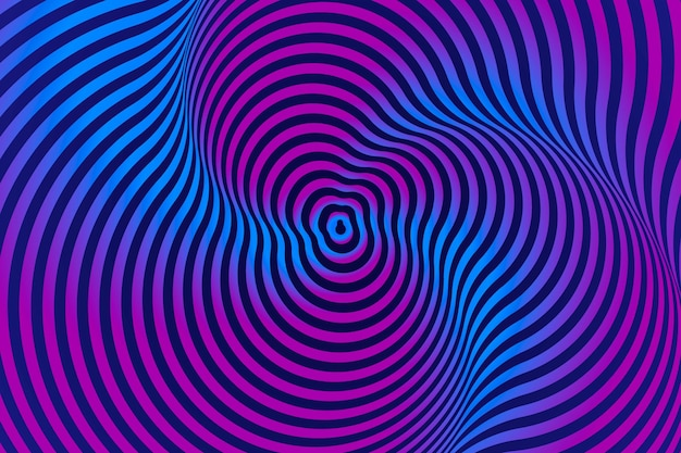 Background psychedelic optical illusion design Free Vector