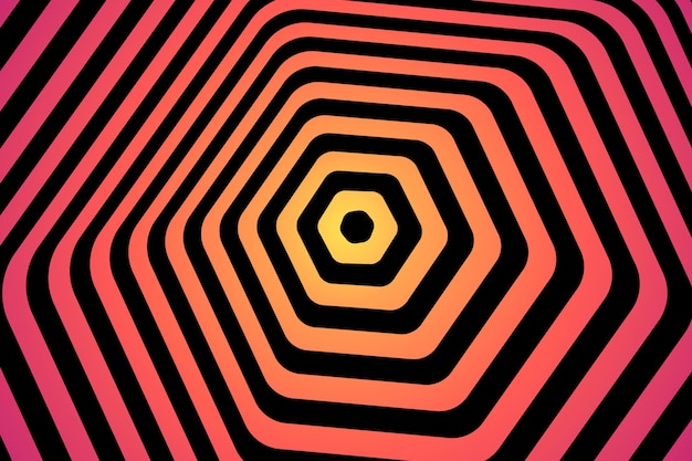 Background psychedelic optical illusion style Free Vector