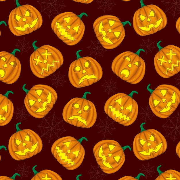Background pumpkin hallowen Premium Vector