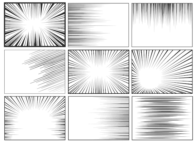 Background of radial lines for comic books. Premium Vector