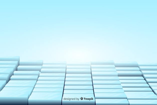 Background realistic cubes floor Free Vector