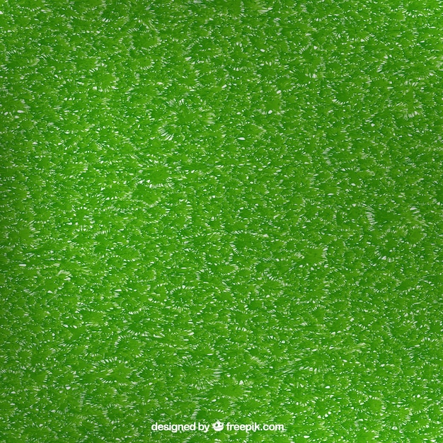 Background of realistic grass texture Free Vector