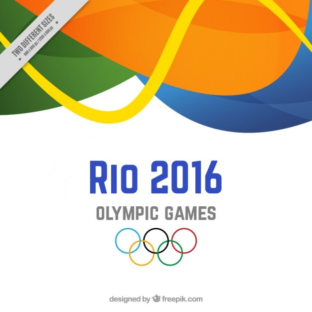 Background of rio 2016 with abstract shapes Free Vector