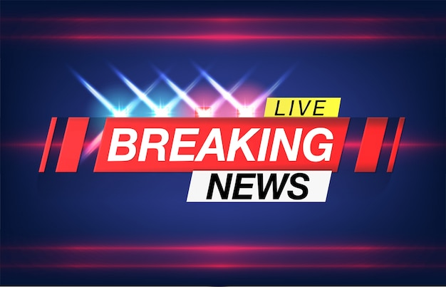 Background screen saver on breaking news. breaking news live on world map background. Premium Vector