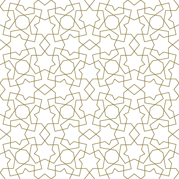 Background seamless pattern based on traditional islamic art. Premium Vector
