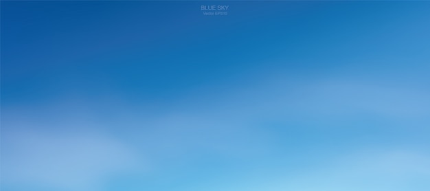 Background of soft white clouds against blue sky. Premium Vector