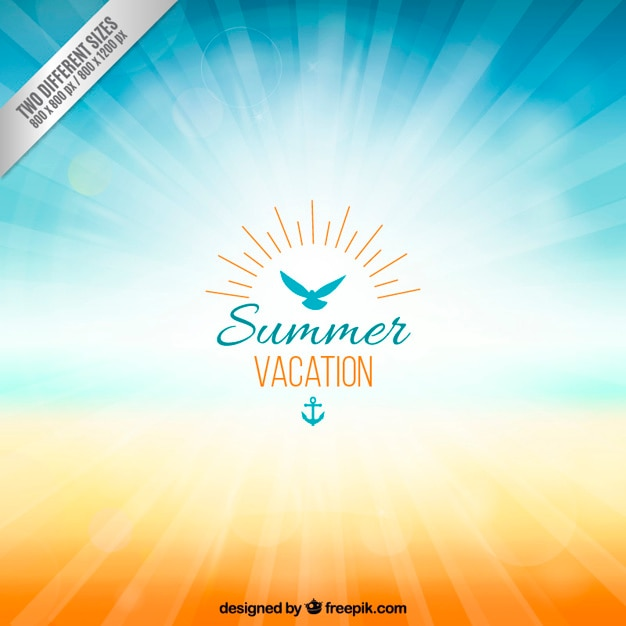 Background for summer vacation Free Vector