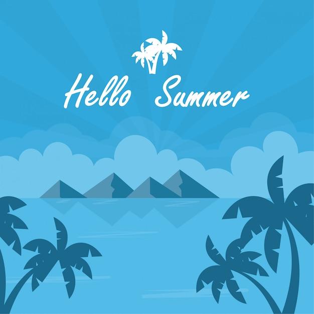 Background summer Premium Vector