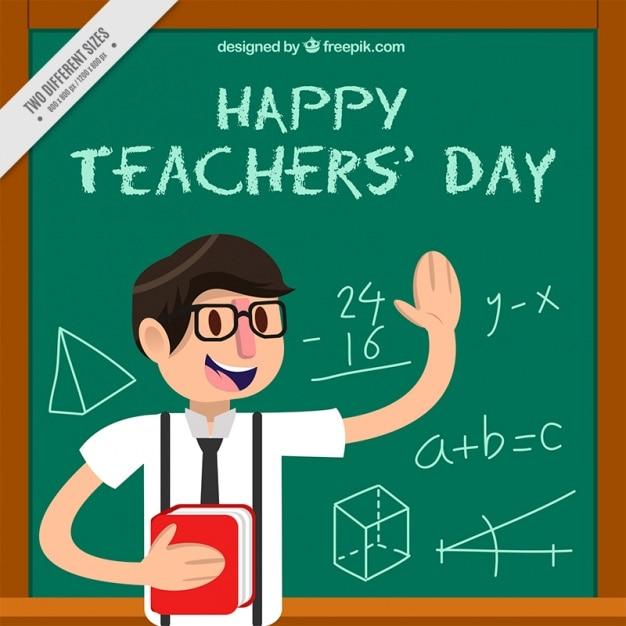 Background teacher with blackboard