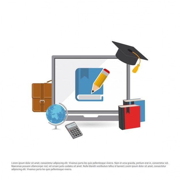 Background template about education Free Vector