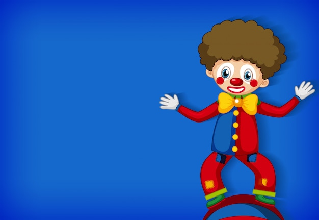 Background template design with happy clown Free Vector