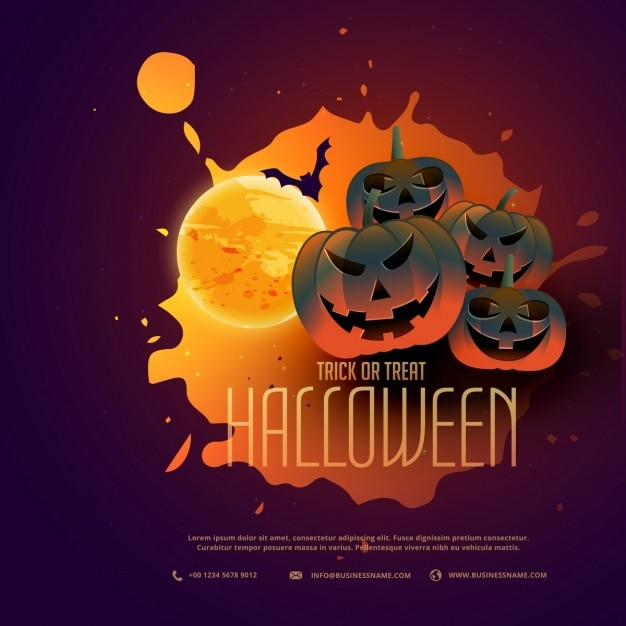 Background Template For Halloween Vector | Free Download