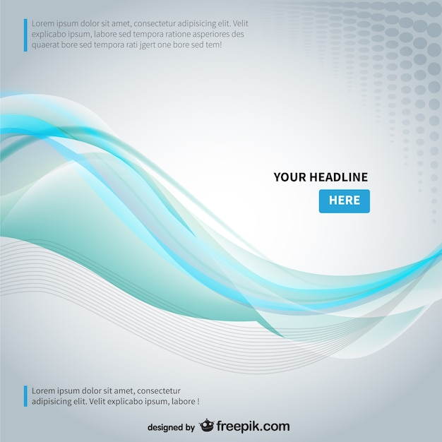 Background Template With Abstract Wave Vector