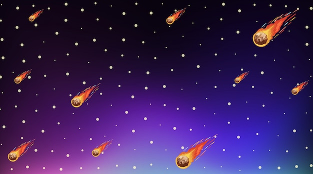 Background template with bright stars in dark sky Free Vector