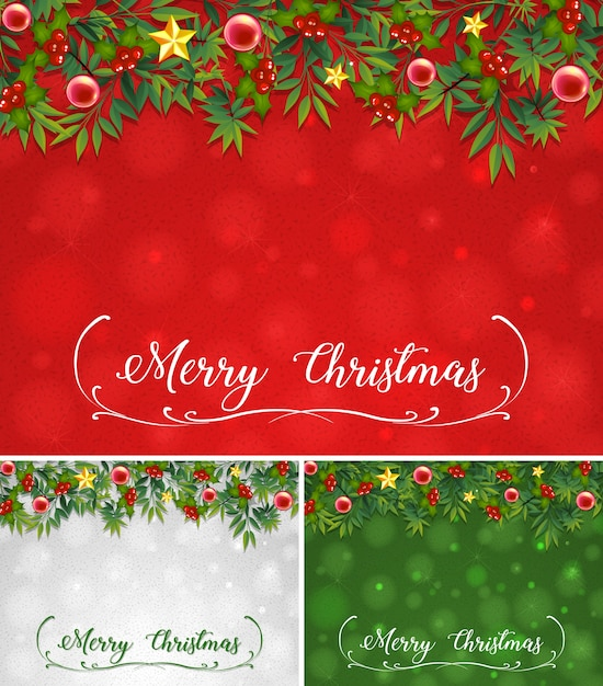 background template with christmas theme free vector - Christmas Themes Free