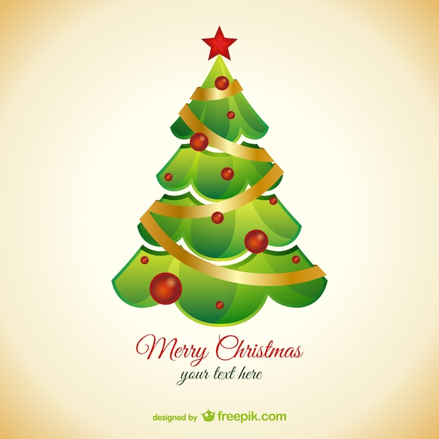 Background template with christmas tree Free Vector