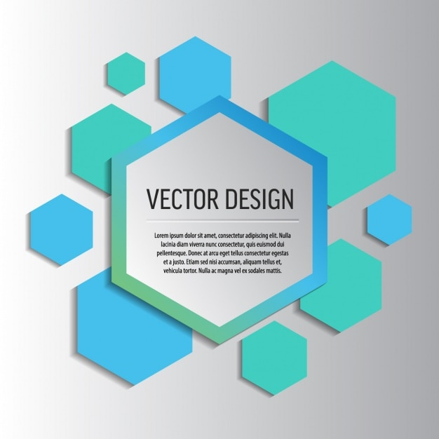 Background Template With Hexagons Vector Free Download