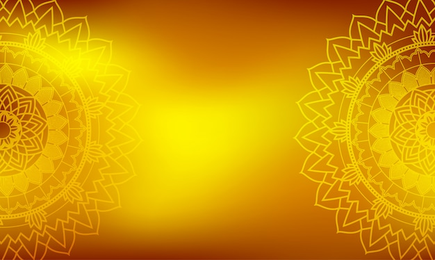 Background template with mandala designs Free Vector