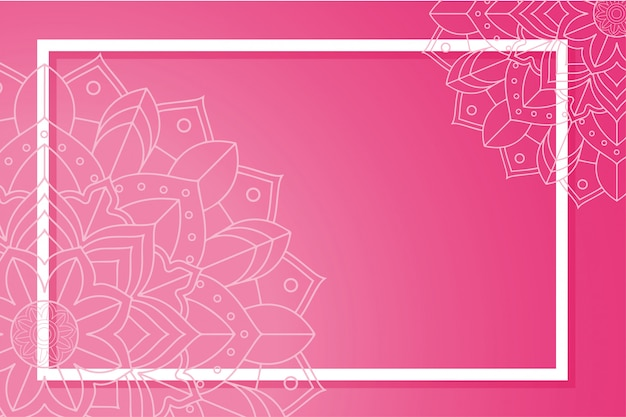 Background template with mandala frame Free Vector