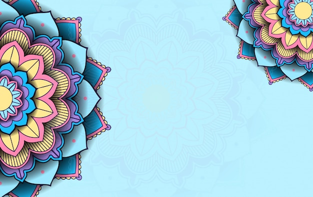Background template with mandala pattern Free Vector