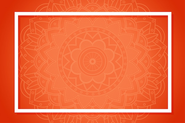 Background template with mandala patterns Free Vector