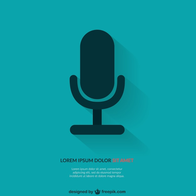 Background Template With Microphone Vector Free Download