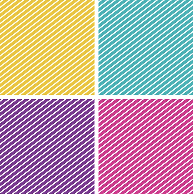 Background template with striped patterns Free Vector