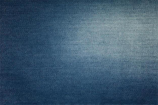 光洗浄苦しめられた色あせた領域と暗い藍藍綿ジーンズデニムの背景テクスチャ Premiumベクター