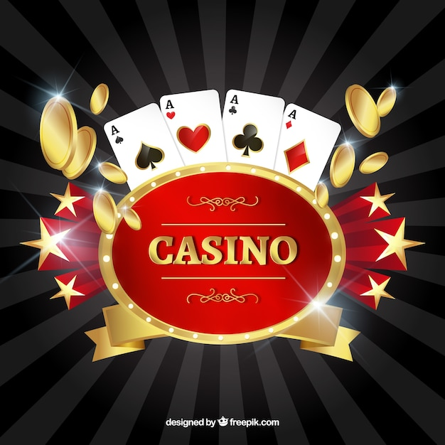 Background of traditional casino elements Free Vector
