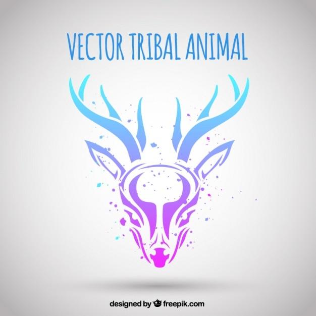 Sfondo di cervi tribali Vettore gratuito