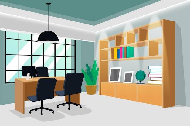 Background for video conferencing Free Vector