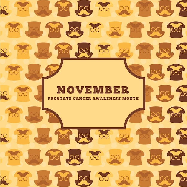 Background of vintage movember shirts Free Vector