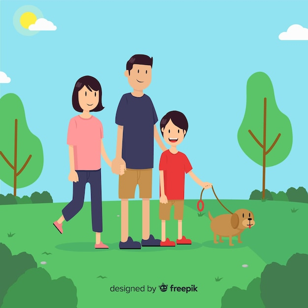 Background walking at the park Free Vector
