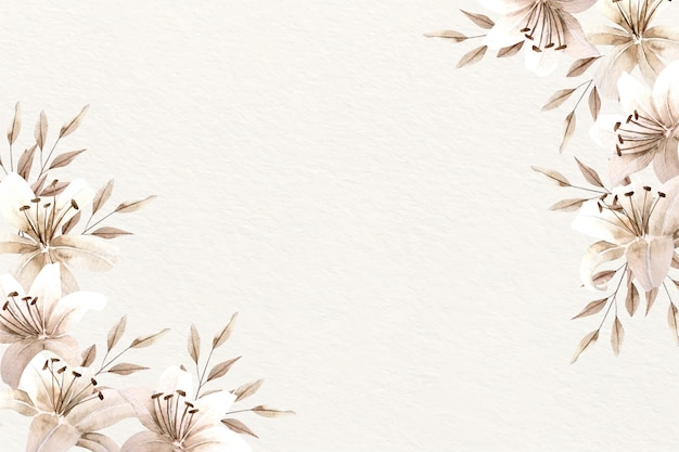 Background watercolor floral with soft colors Free Vector