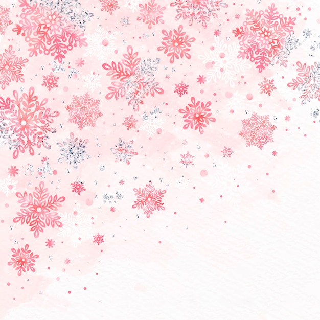 Background watercolor winter Free Vector
